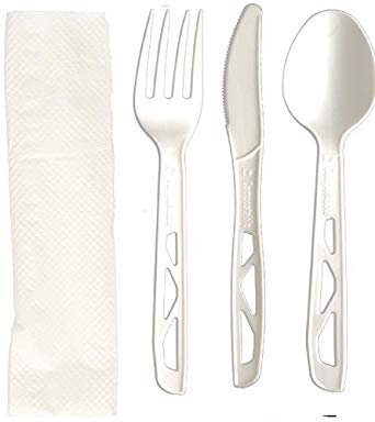 CUTLERY KIT CPLA WHT MED 500