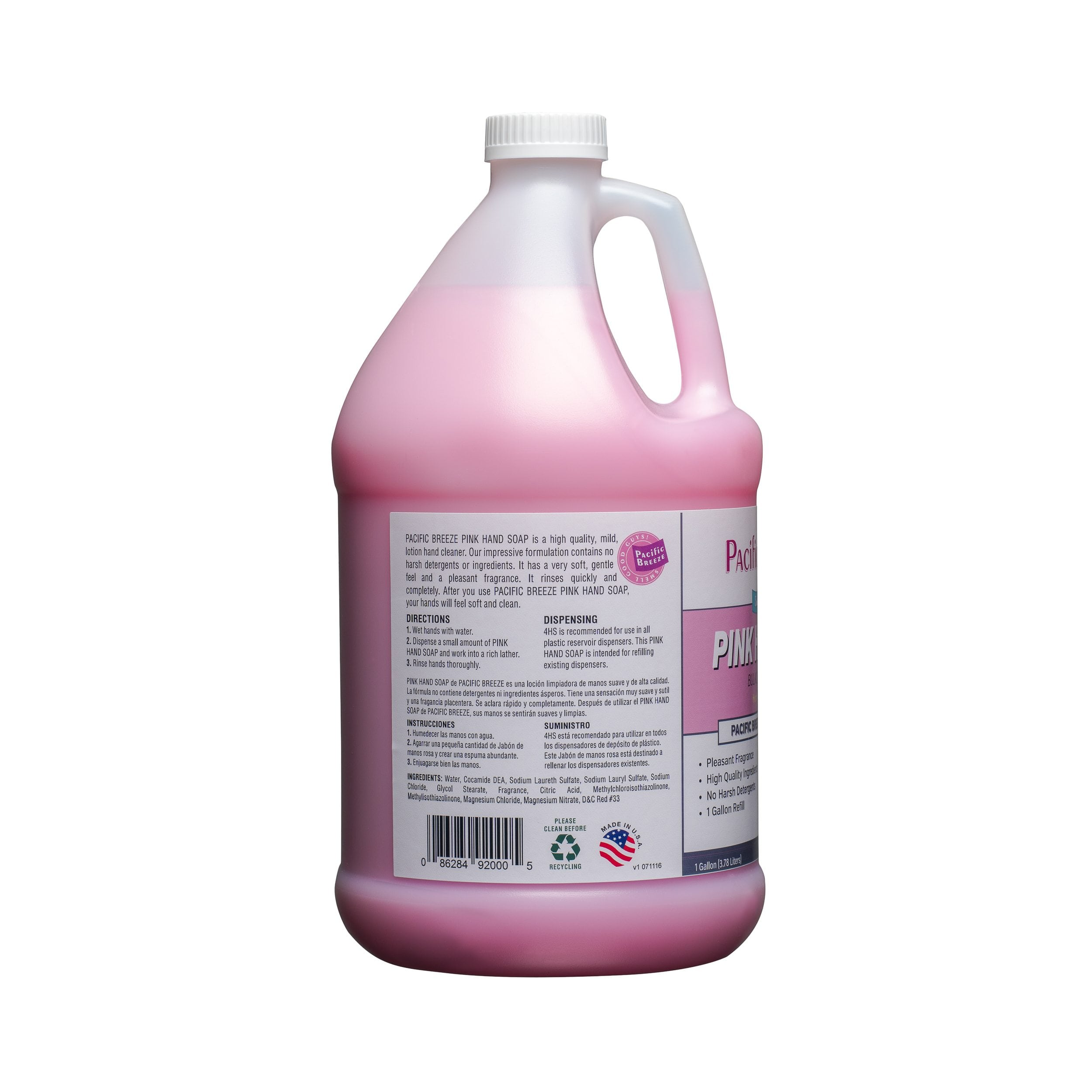 SOAP HAND PINK FLORAL 4/1GAL
